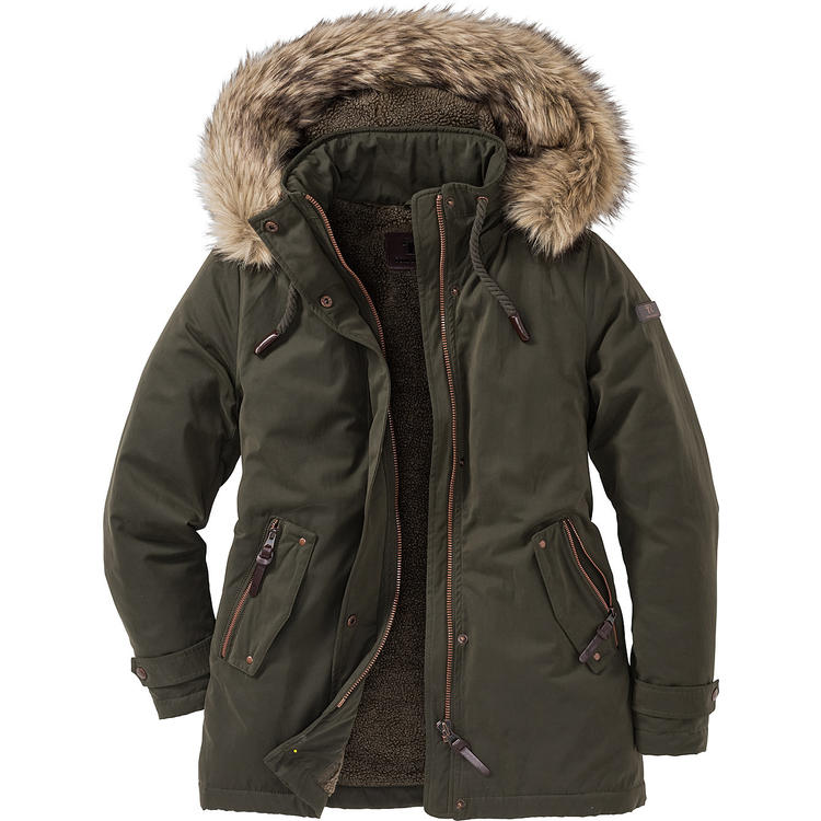 tom ramsey damen parka mit fell kapuze jacken m ntel damen vorteilshop. Black Bedroom Furniture Sets. Home Design Ideas