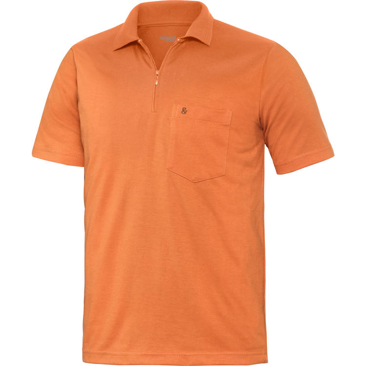 finest selection d371b 5c750 HENSON&HENSON Herren Poloshirt mit Zipper kurzarm ...