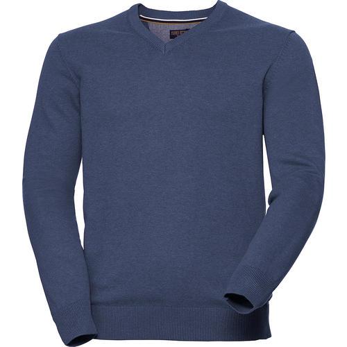 Franco Bettoni Herren V-Pullover   Bekleidung > Pullover > V-Pullover   Jeansblau   Baumwolle   Franco Bettoni