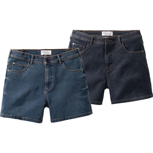 HENSON & HENSON 2er Pack Denim-Shorts